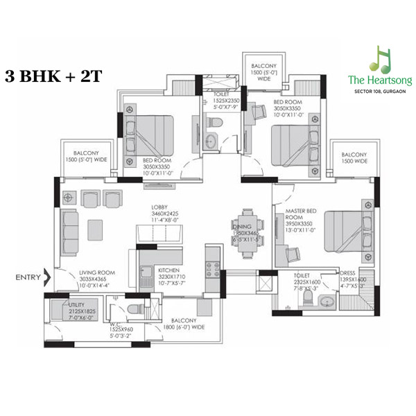 Experion The Heartsong 2 3 Bhk Ready To Move In Apts