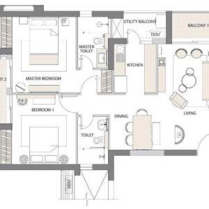 Emaar Digi Homes Floor Plan