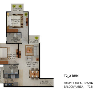 Signature-Global-the-Millennia-2BHK-Type-2-Floor-Plan
